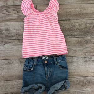 2T Tank and Jean Short Set